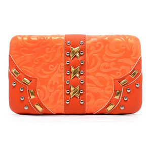 Handbags - Tangerine Opera Clutch Wallet